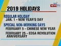BT: 2019 Holidays