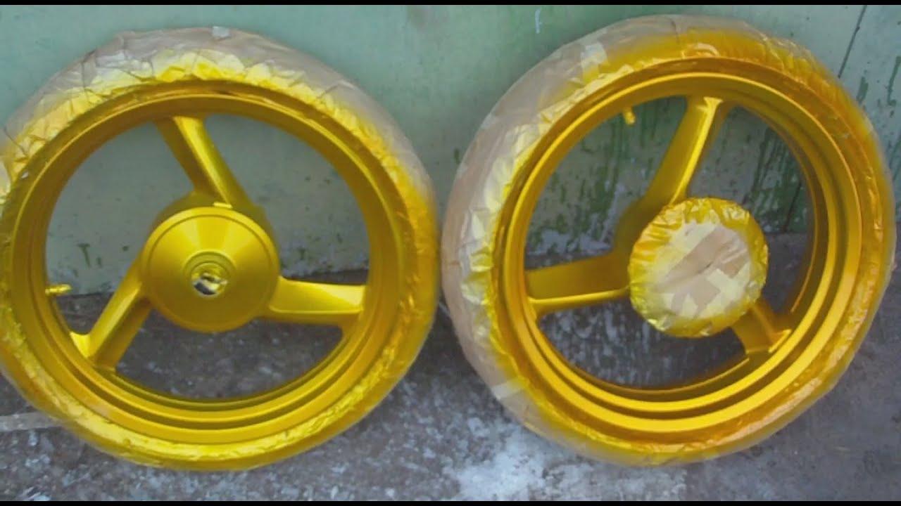 Колесные диски. Трехслойная покраска в золотой цвет Кенди