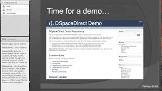 DSpaceDirect: Information Session Recording - October 2014