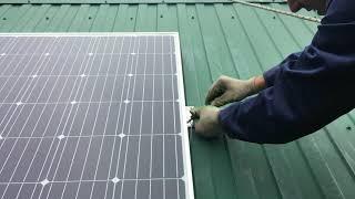 монтаж солнечных панелей, установка диода Шоттки