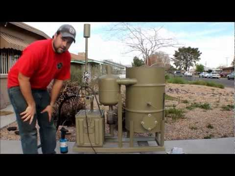 amazing homemade gasifier uses wood pellets to...
