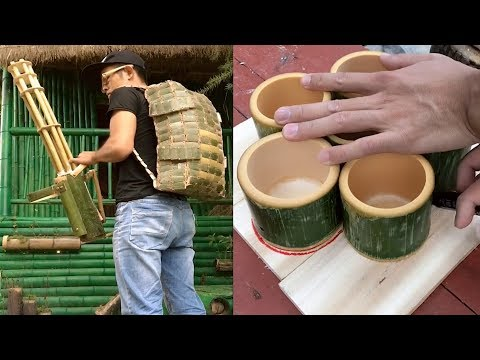 Amazing DIY make anything with bamboo craft