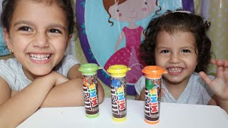 fingers family kids song colorful m&m with sewar | finger family song m&m _ Kinderlieder und lernen