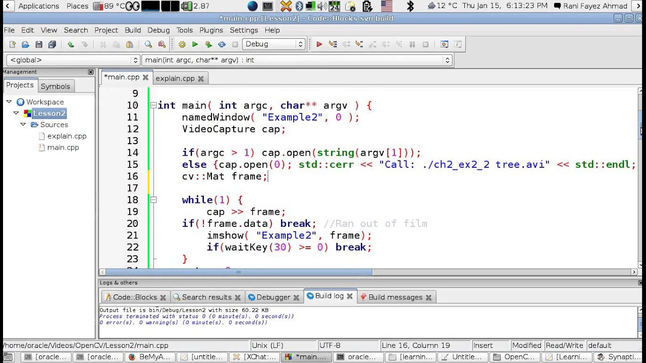 OpenCV Using C++ Lesson 15 :Reading And Displaying A Video (Arabic ...
