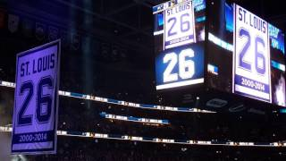 Martin St. Louis number retirement ceremony