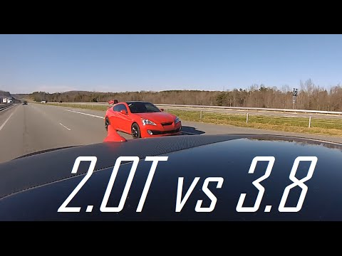 Hyundai Genesis Coupe 2.0T VS 3.8