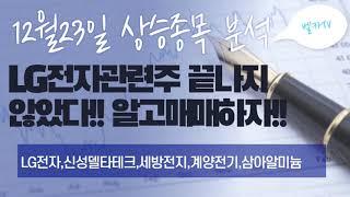 12월23일 LG전자관련주!! LG전자 신성델타테크 세…