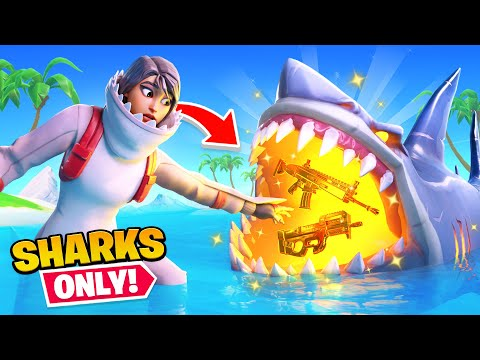 Fortnite But Shark Loot ONLY Challenge!
