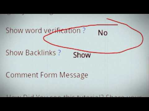 How to Disable Captcha in Blogger Comment
