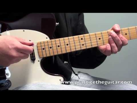 funk electric guitar lesson rhythm and strumming 16th note displacement backing tracks youtube. Black Bedroom Furniture Sets. Home Design Ideas