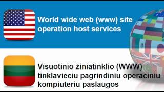 Learn Lithuanian vocabulary #Topic = Internet services