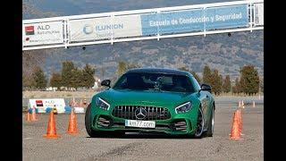 Mercedes-AMG GT R 2016 - Maniobra de esquiva (moose test) y eslalon   km77.com