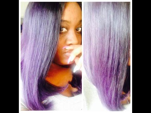 My Purple ombre Bob Unit w/ lace closure