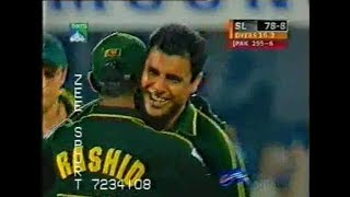 Wasim Waqar and Shoaib Destroyed Sri Lankan Batting for just 78 runs  (Sharjah Cup Final 2002)