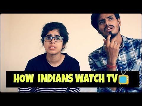 How Indians watch TV   📺    The blah blah show