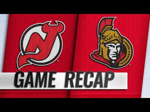 Stone, White lead Senators to 7-3 win over Devils