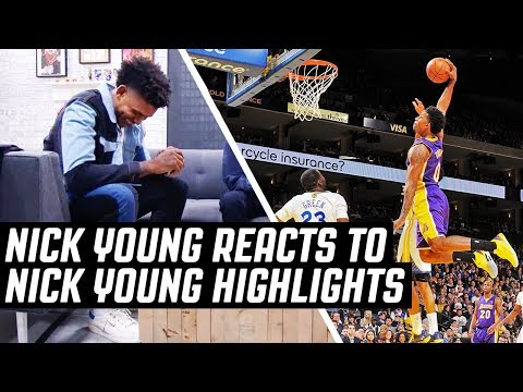 Nick Young Reacts To Nick Young Highlights