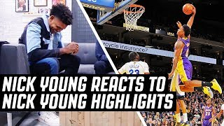 Nick Young reacts to his highlights including the 3 point miss celebration, 360 layups, and MORE! ✓   Subscribe, Like & Comment for More! ✓   --------- Follow ...