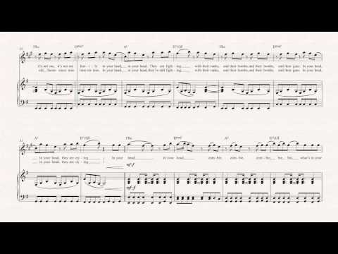Clarinet  - Zombie - The Cranberries -  Sheet Music, Chords, & Vocals