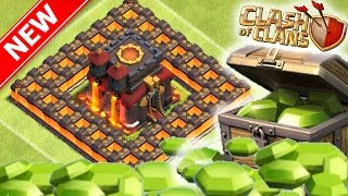 GEMMING NEW 25 WALLS | NEW TOWN HALL 10 FARMING BASE w/ 275 WALLS | CLASH OF CLANS UPDATE
