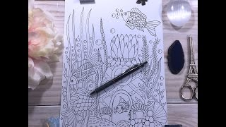 speed drawing   under the sea