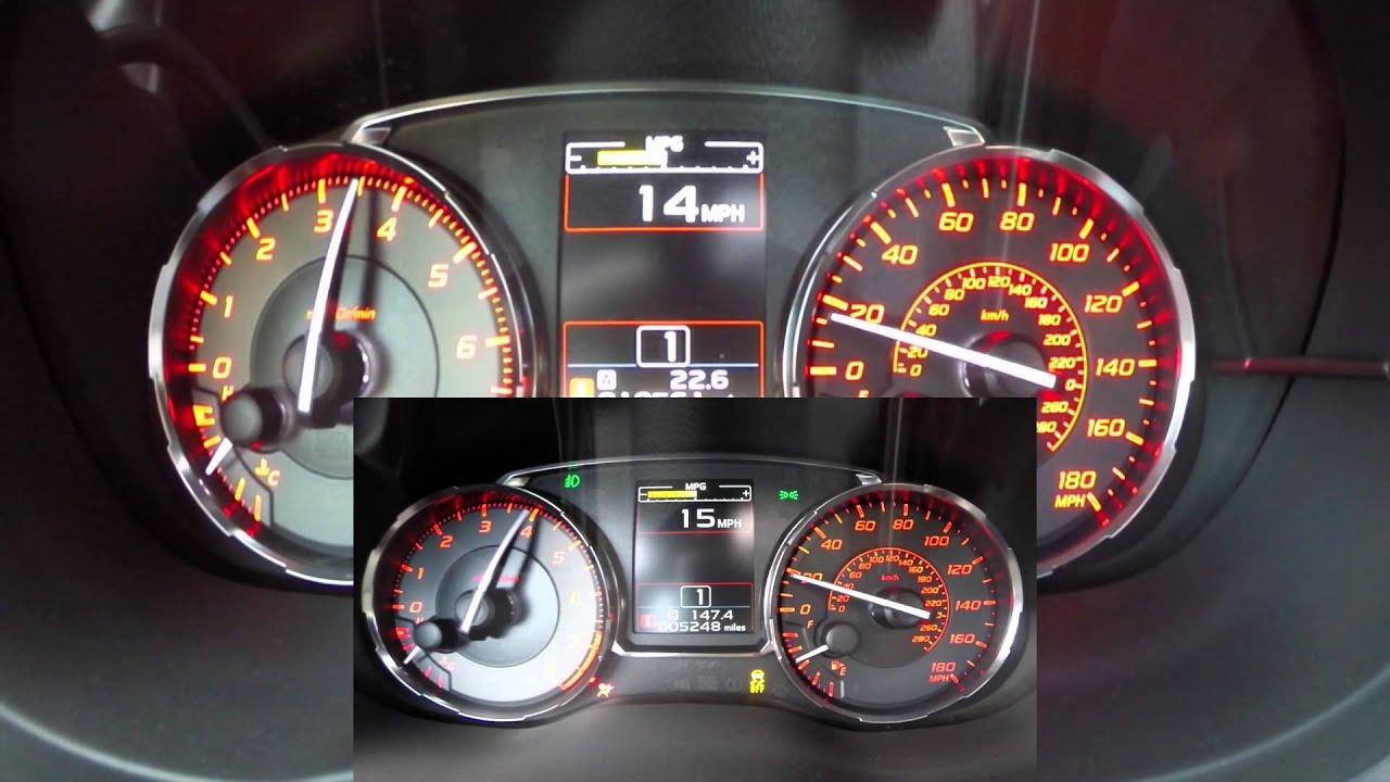0-130MPH Stage 2 Subaru WRX 2015 comparison to stock