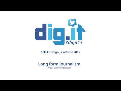 Long form journalism Cimarosti, Zoia #digit15
