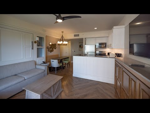 Disney's Saratoga Springs Resort 2 Bedroom Villa Room Tour - Newly Refurbished - In 4K