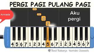 Download lagu Pergi pagi pulang pagi not pianika
