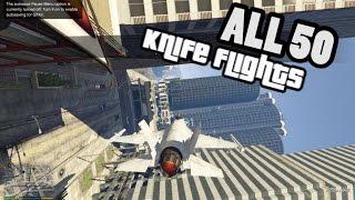 """GTA 5 - Všech 15 průletů """"KNIFE FLIGHTS"""" (Close Shave - Achievement CZ/SK)"""
