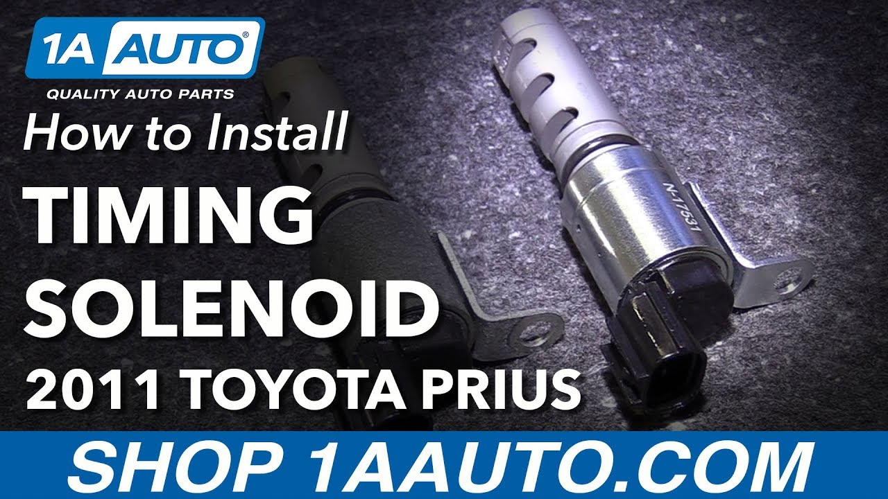 How To Install Replace Intake Variable Valve Timing Solenoid 2010 14 Toyota Prius Com Ford 2glf1transmissioncontrolsolenoidlocated2000html
