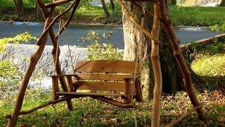 Wooden garden swings