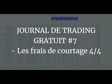 JOURNAL DE TRADING GRATUIT #7 - Les frais de courtage 4/4 1