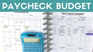 Paycheck Budget January 2020 | Paycheck to Paycheck Budgeting Happy Planner Printable