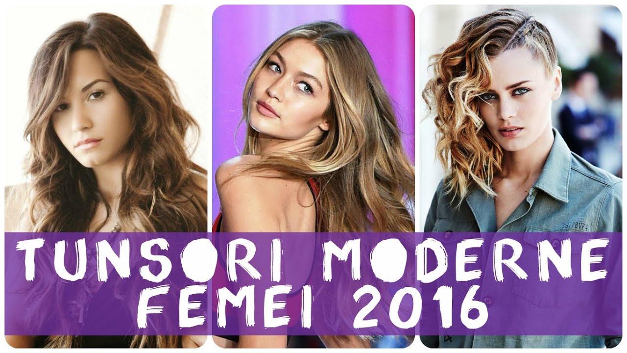 Tunsori moderne femei 2016 - YouTube