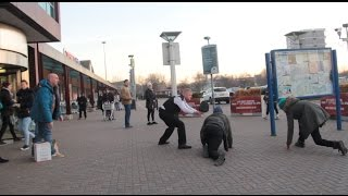 Mannequin Challenge In Public Gone Violent
