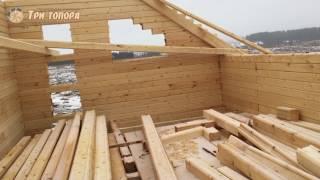 Коробка в 2 этажа, фронтоны (8/11). Строительство дома из профилированного бруса. Три Топора Пермь