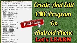 Create And Edit CNC program on Android phone. BY CNC PROGRAMMING IN HINDI