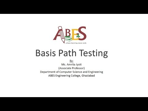 Basis Path Testing by Ms. Amrita Jyoti e-content for AKTU [Software Engineering]