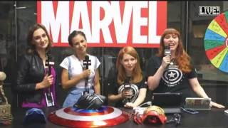 Wynonna Earp Marvel Interview with Dominique Provost-Chalkley and Katherine Barrell