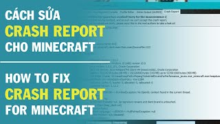 Cách fix Crash Report cho Minecraft