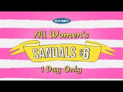 Old Navy Sandals: One Day Only-United States $6