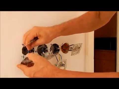 Električne instalacije stana/prvi dio/rasvjeta spavaće sobe