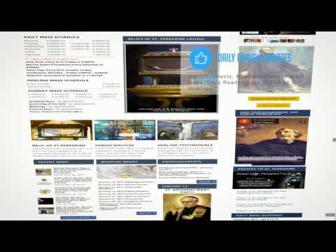 Overview of St  Peregrine Laziosi Parish Website