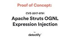 Proof of Concept: CVE-2017-9791 Apache Struts OGNL Expression Injection