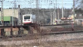 Sm3 Pendolino S70 depats Lahti.Sm3 Pendolino S70 lähtee Lahdesta Helsinkiin
