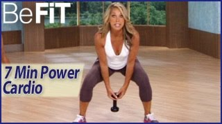 7 Min Power Cardio Weight Loss Workout: Denise Austin- Fit in a Flash