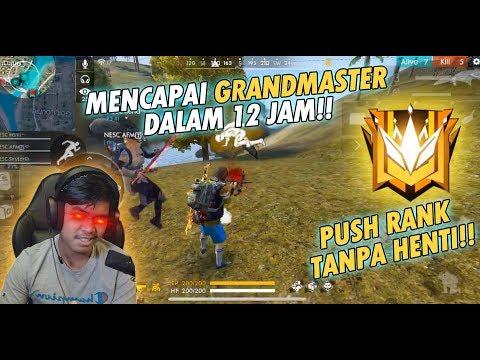 TEMBUS RANK GRAND MASTER CUMAN 12 JAM!! - FREE FIRE INDONESIA