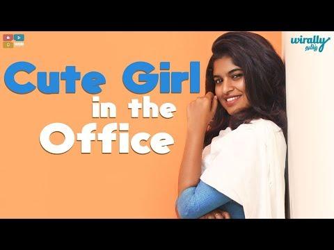 Cute Girl in the Office  || Wirally Tamil || Tamada Media