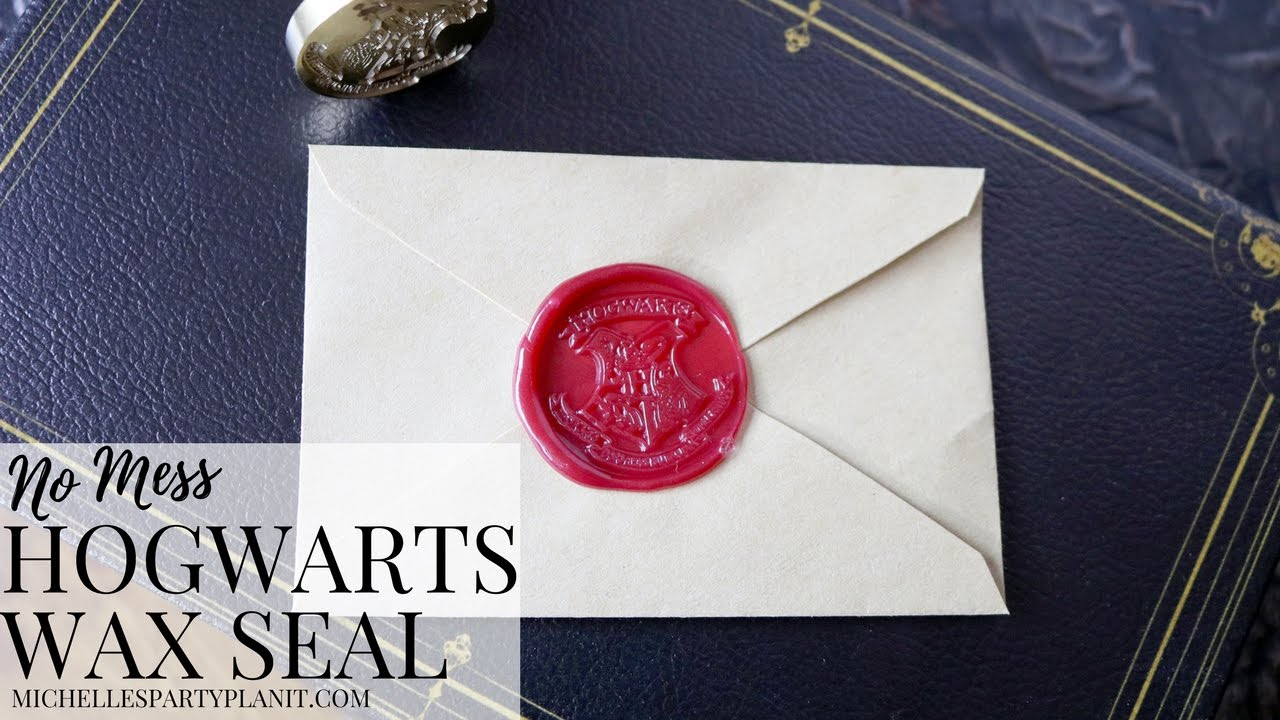 DIY Hogwarts Stationery with No Mess Envelope Wax Seal - YouTube